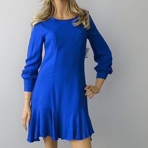 Bar III NWT Cobalt Glaze Solid Fit & Flare Dress